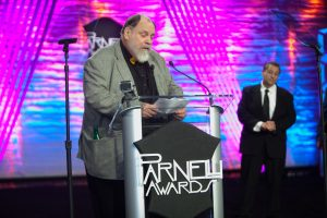 Bobby Boomer Thrasher accepts The Parnelli Lifetime Achievement Award