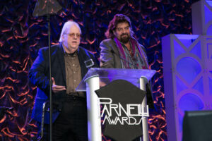 FOH editor George Peterson and Alan Parsons take the stage