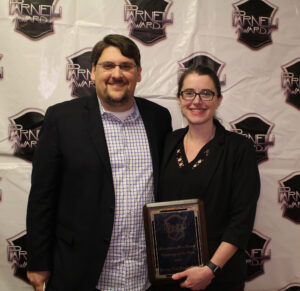 Hometown Hero Sound Company of the Year Brown Note Productions accepted by Sara Knutson Ryan Knutson
