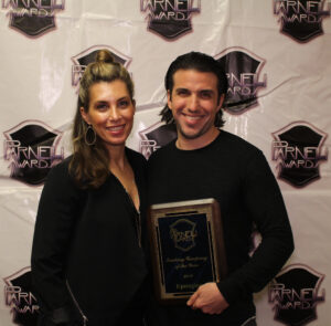 Trucking Company of the Year Upstaging accepted by Chanon DiCarlo Evan Lawrence